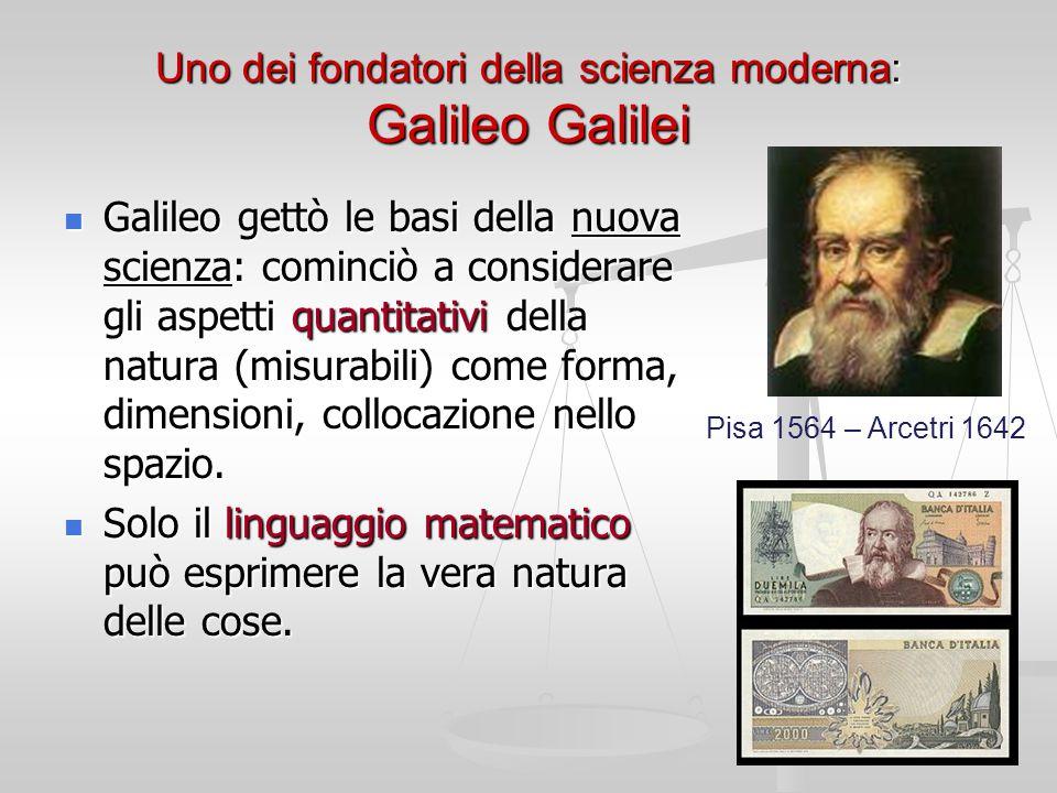 Uno dei fondatori della scienza moderna: Galileo Galilei