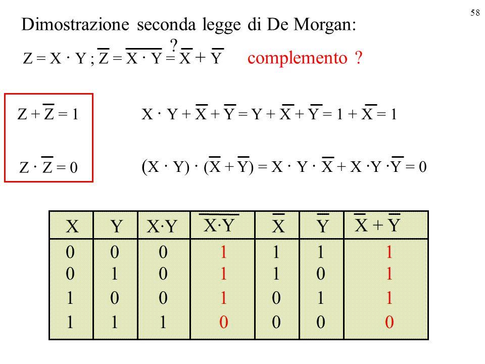 Dimostrazione seconda legge di De Morgan: complemento