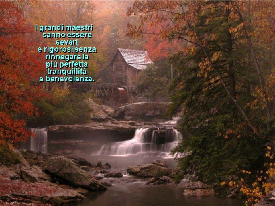 I grandi maestri sanno essere severi e rigorosi senza rinnegare la più perfetta tranquillità e benevolenza.