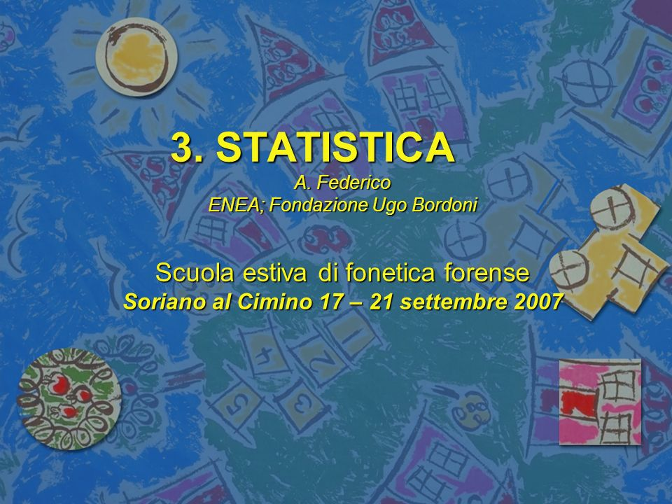 3. STATISTICA A.
