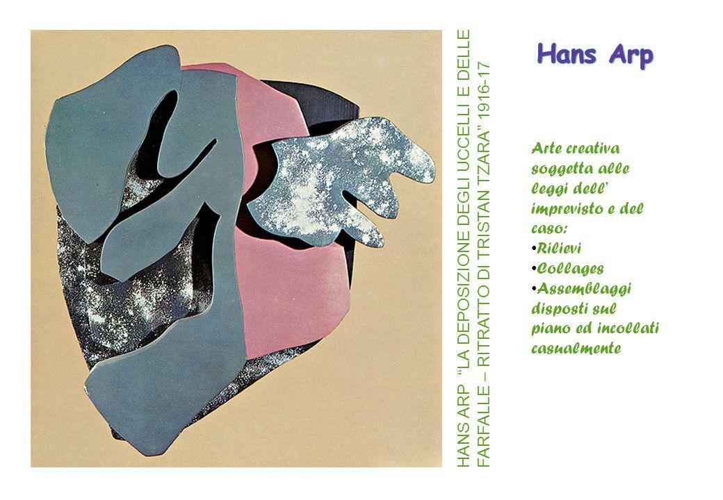 Hans Arp Arte creativa soggetta alle leggi dell' imprevisto e del caso: Rilievi. Collages. Assemblaggi.
