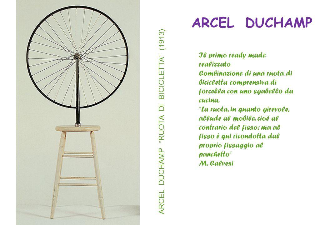 ARCEL DUCHAMP Il primo ready made realizzato