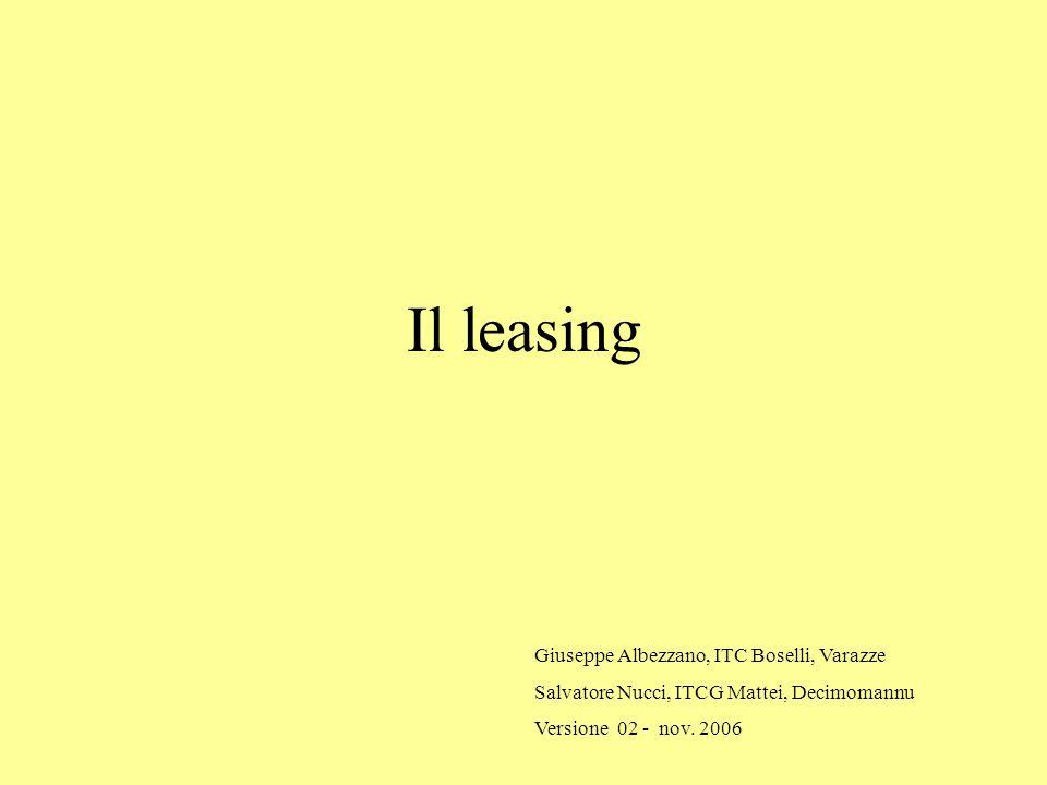 Il leasing Giuseppe Albezzano, ITC Boselli, Varazze