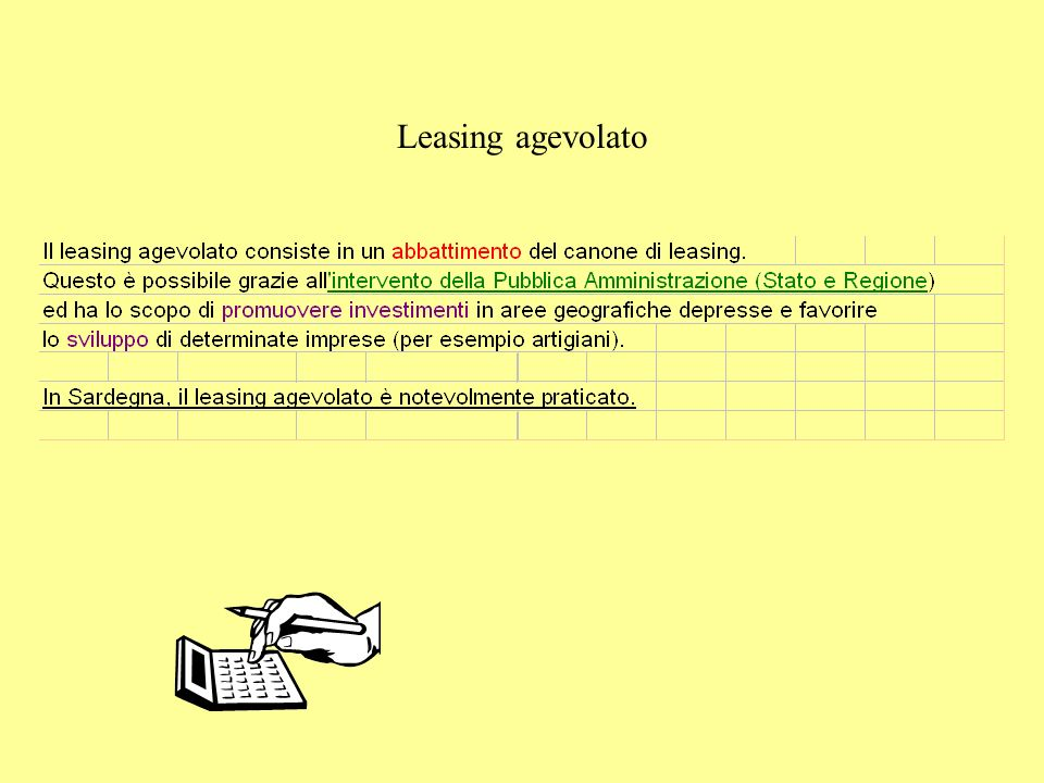 Leasing agevolato