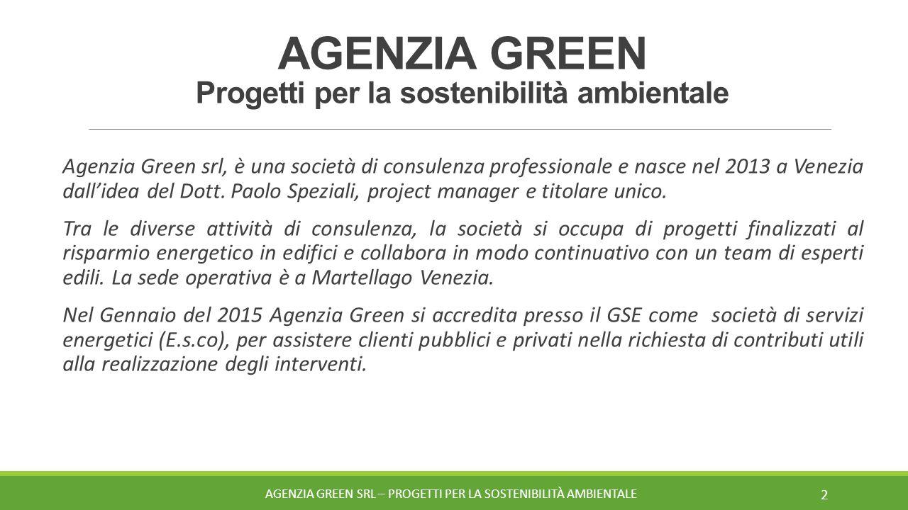 AGENZIA GREEN Progetti per la sostenibilità ambientale
