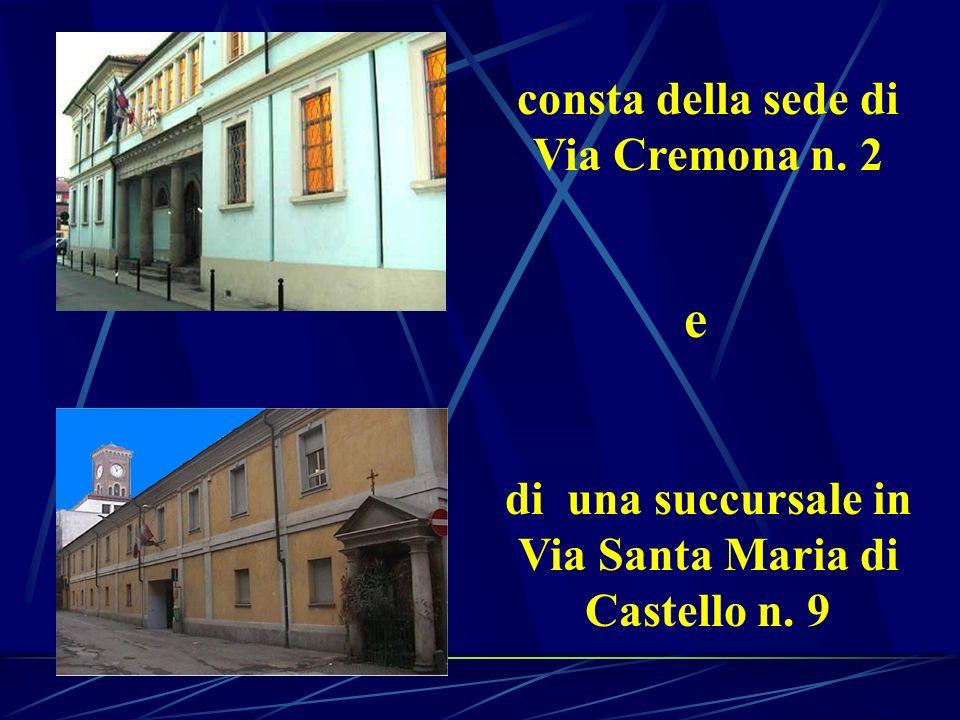 di una succursale in Via Santa Maria di Castello n. 9