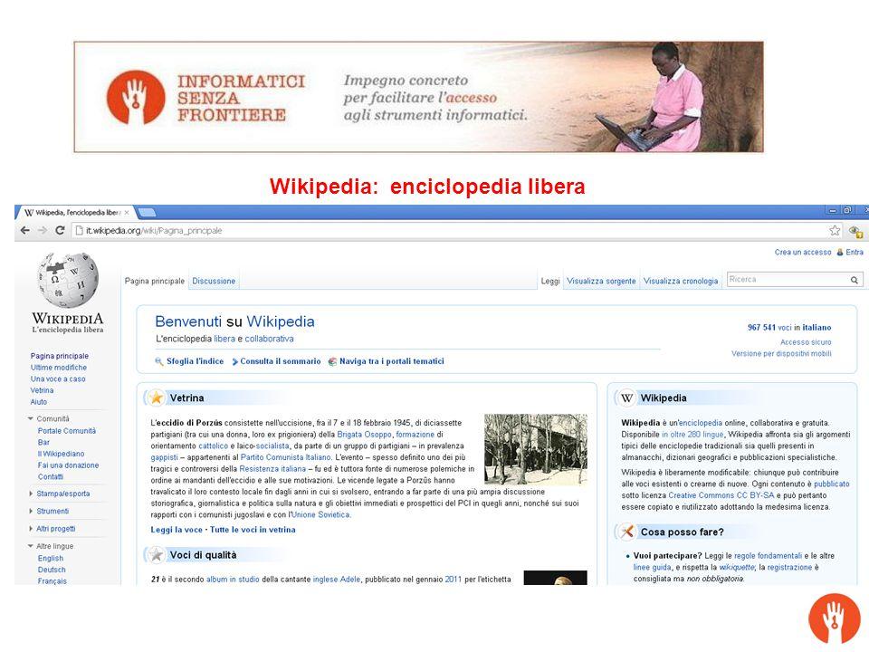 Wikipedia: enciclopedia libera