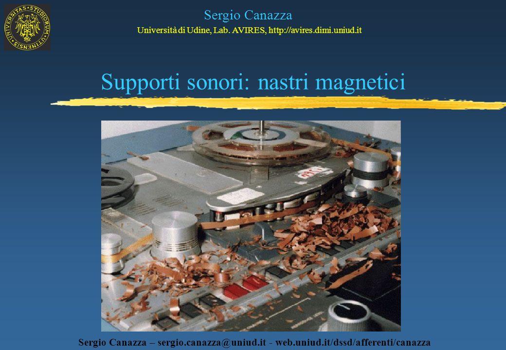 Supporti sonori: nastri magnetici