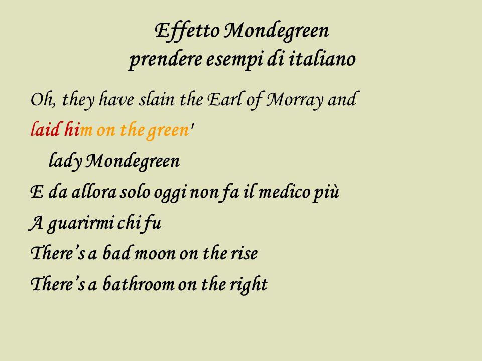 Effetto Mondegreen prendere esempi di italiano