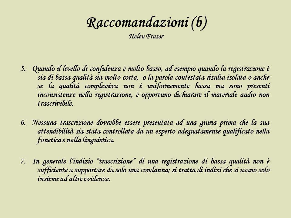 Raccomandazioni (b) Helen Fraser