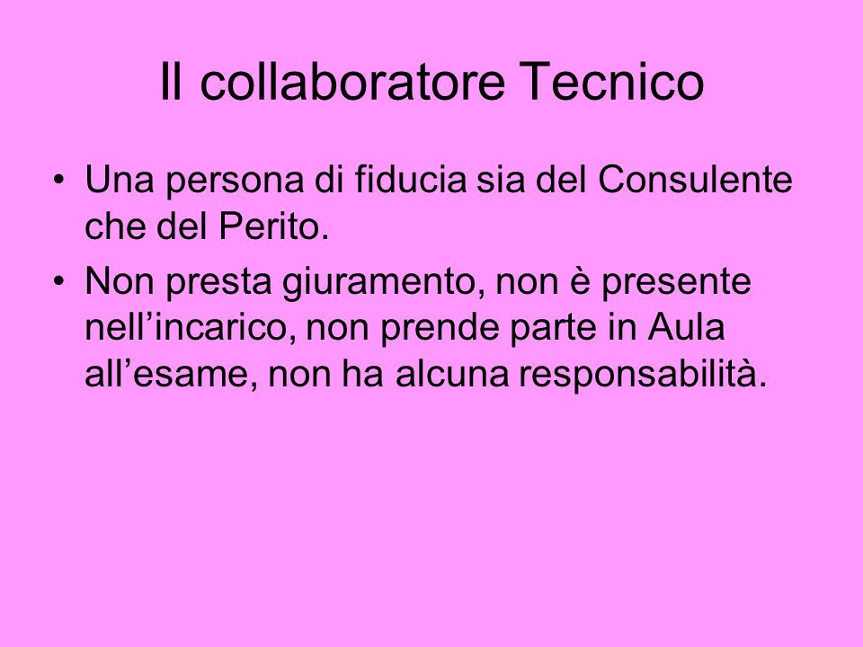 Il collaboratore Tecnico