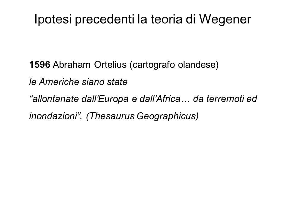 Ipotesi precedenti la teoria di Wegener