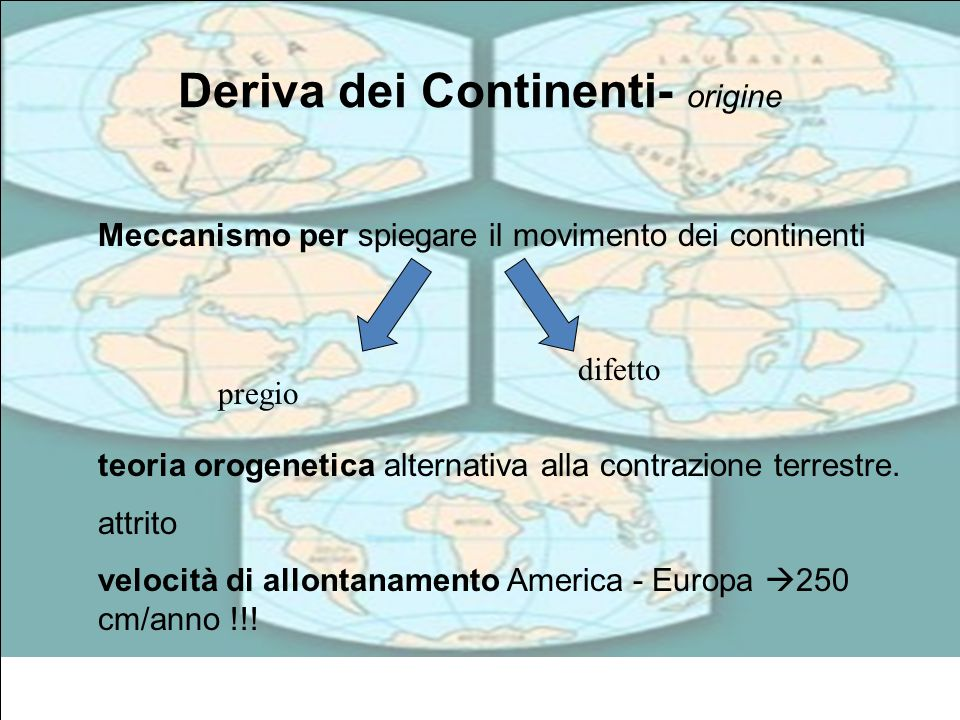 Deriva dei Continenti- origine