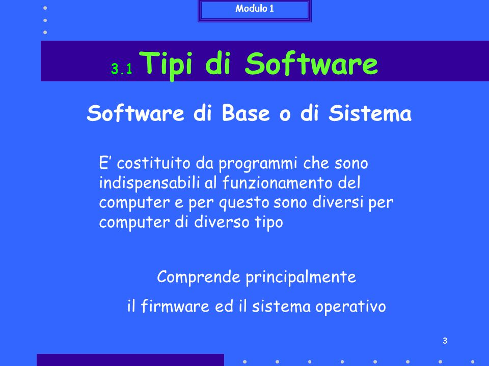 Software di Base o di Sistema