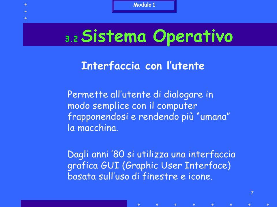 Interfaccia con l'utente