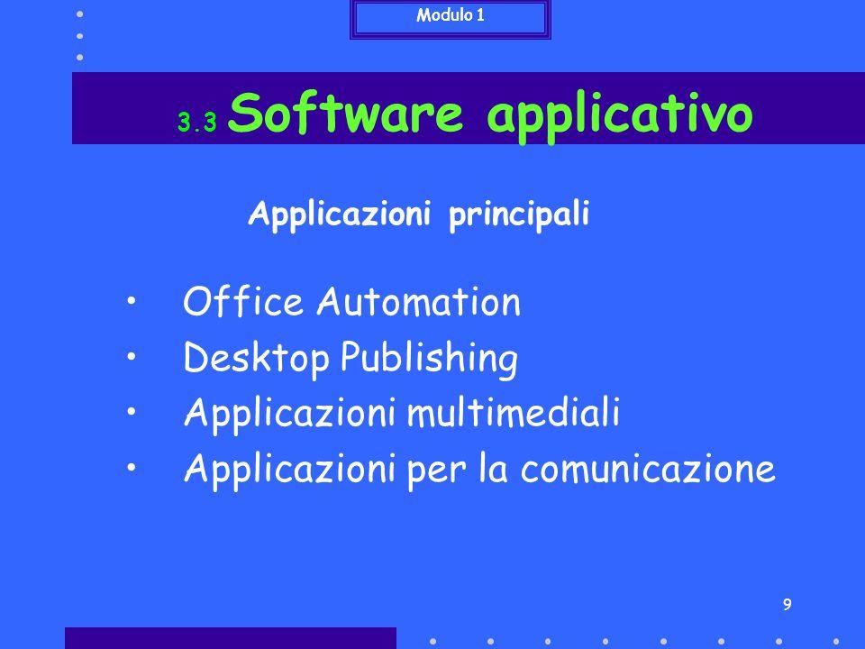 Applicazioni principali