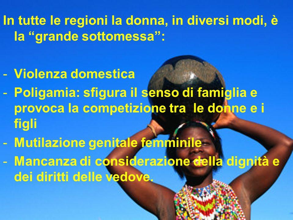 In tutte le regioni la donna, in diversi modi, è la grande sottomessa :