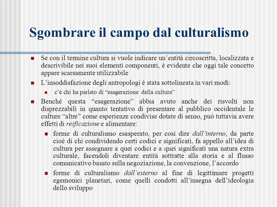 Sgombrare il campo dal culturalismo