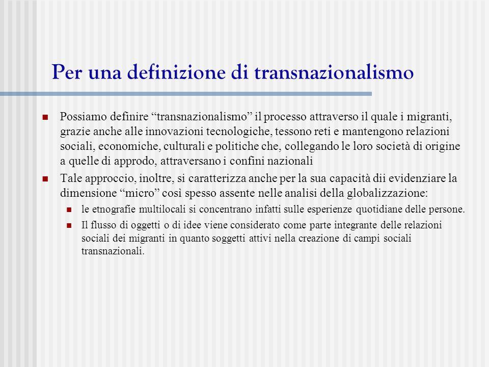 Per una definizione di transnazionalismo