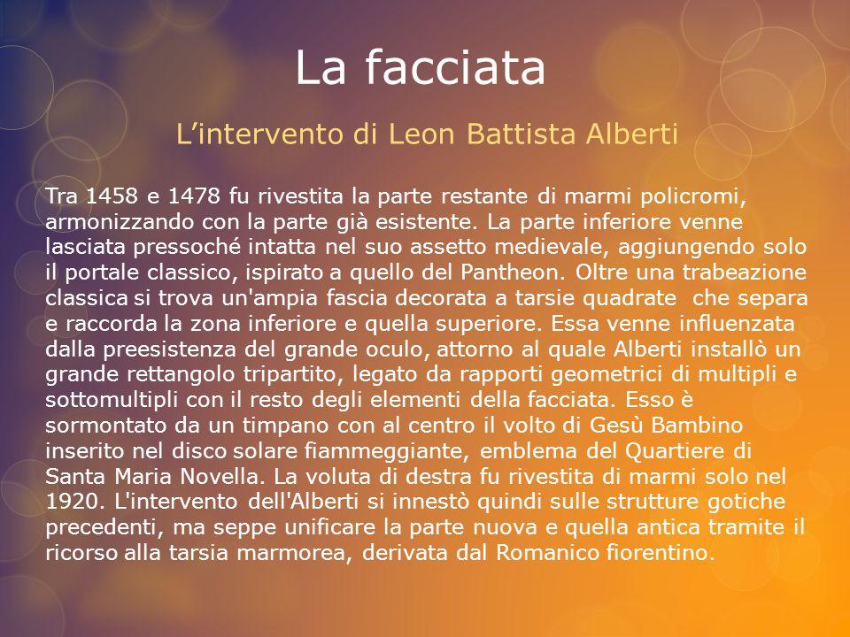 L'intervento di Leon Battista Alberti