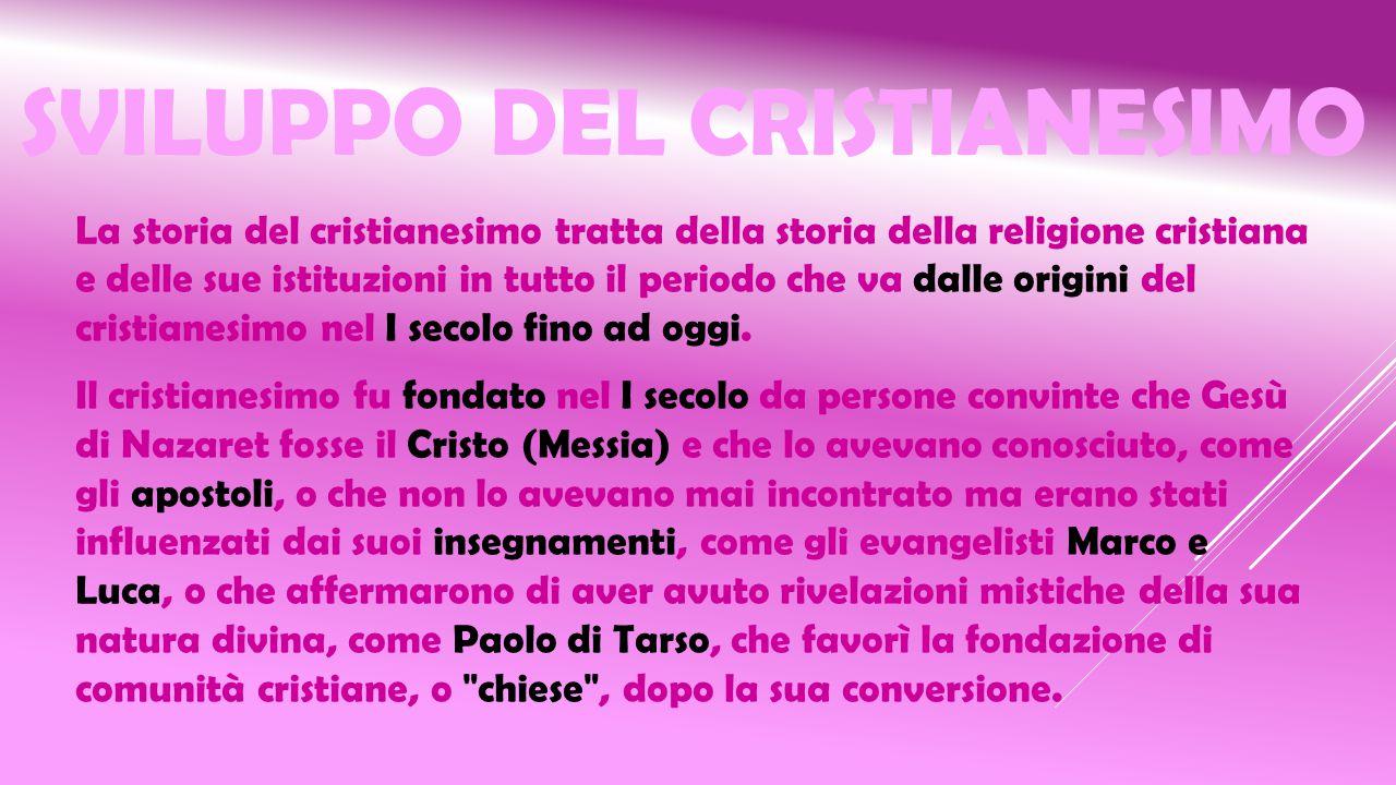Sviluppo del cristianesimo