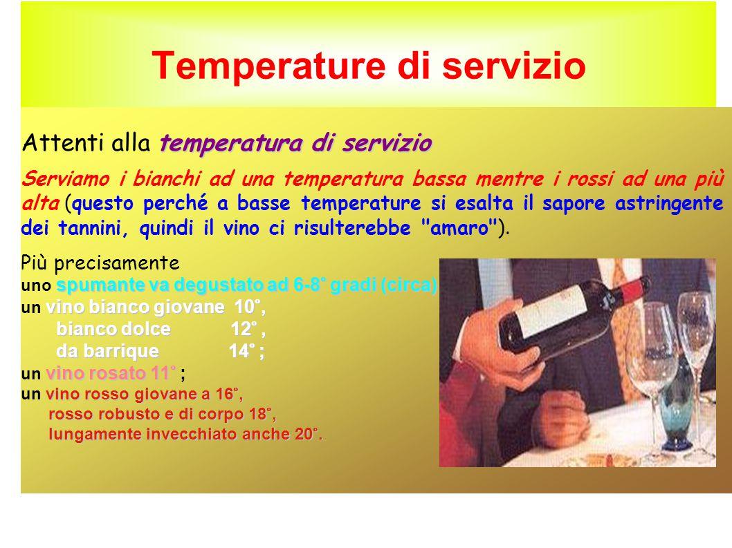 Temperature di servizio