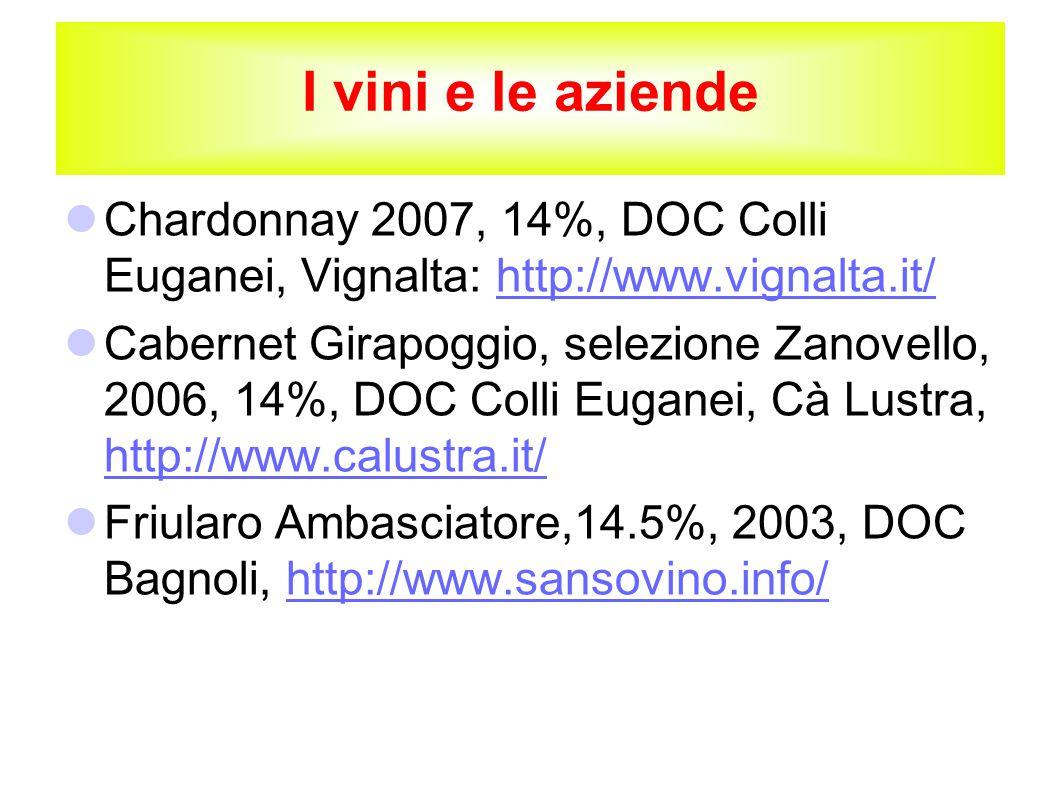 I vini e le aziende Chardonnay 2007, 14%, DOC Colli Euganei, Vignalta: http://www.vignalta.it/