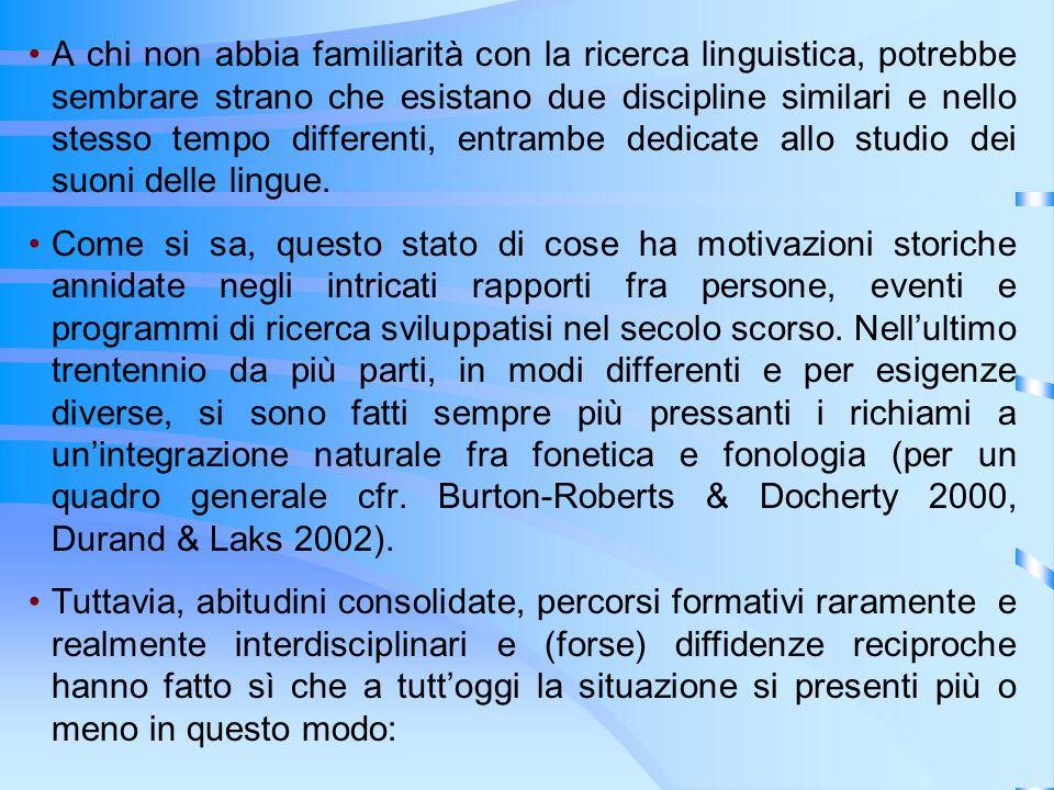 A chi non abbia familiarità con la ricerca linguistica, potrebbe sembrare strano che esistano due discipline similari e nello stesso tempo differenti, entrambe dedicate allo studio dei suoni delle lingue.