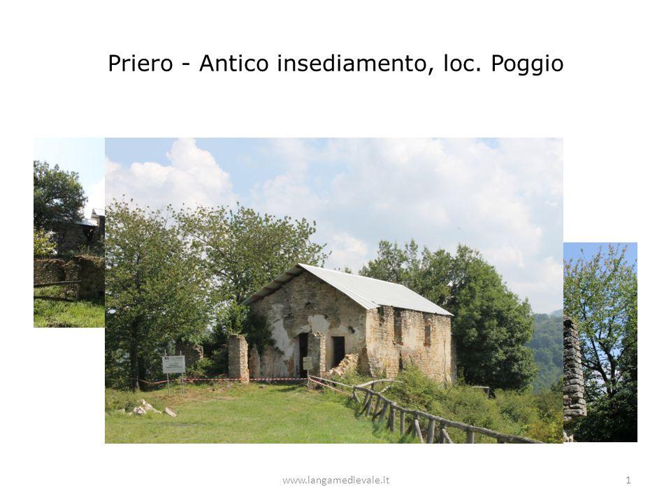 Priero - Antico insediamento, loc. Poggio