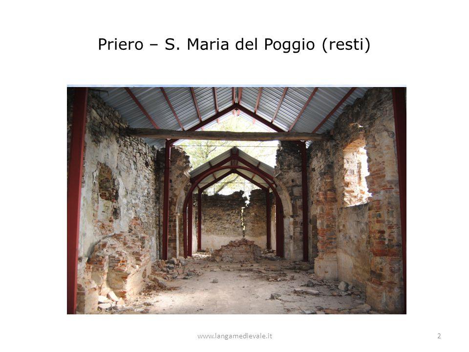 Priero – S. Maria del Poggio (resti)