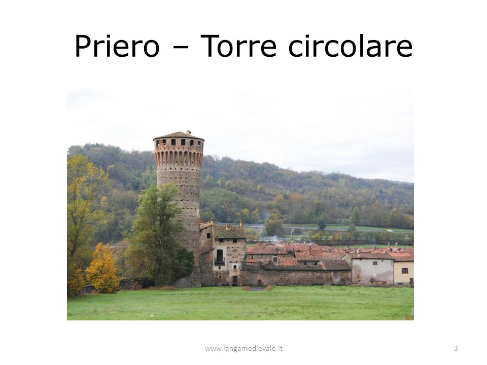 Priero – Torre circolare