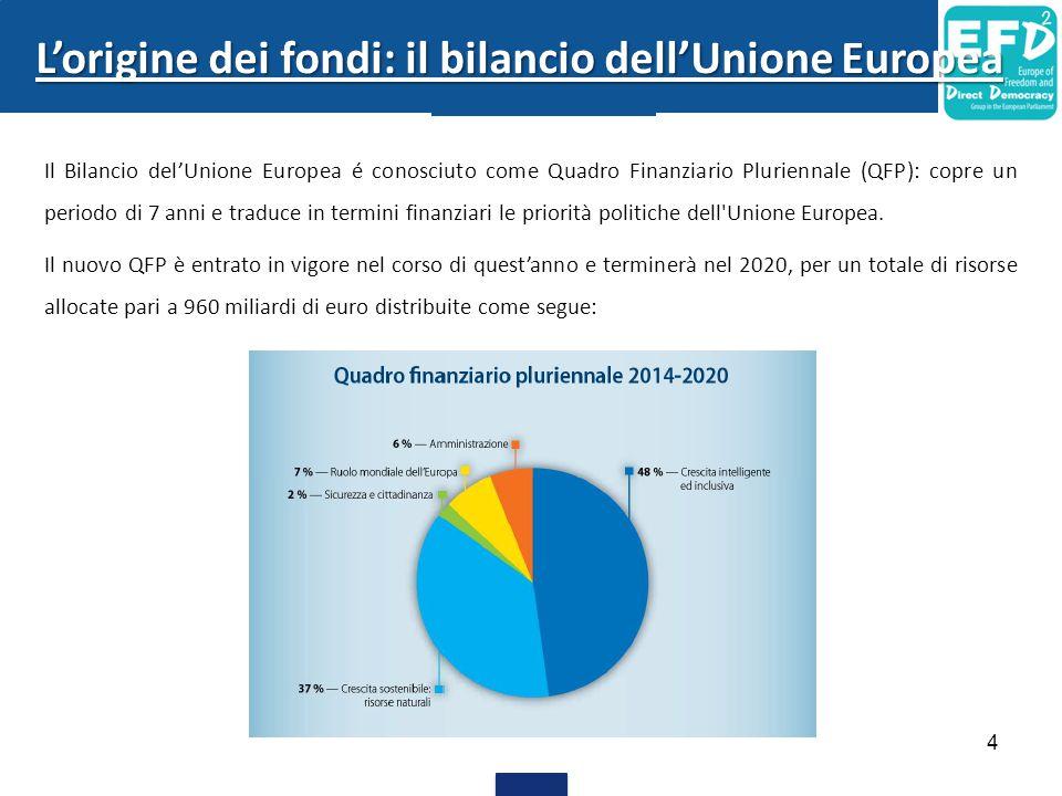 L'origine dei fondi: il bilancio dell'Unione Europea