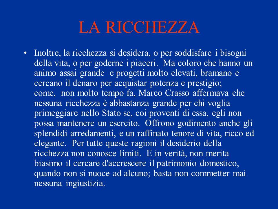LA RICCHEZZA