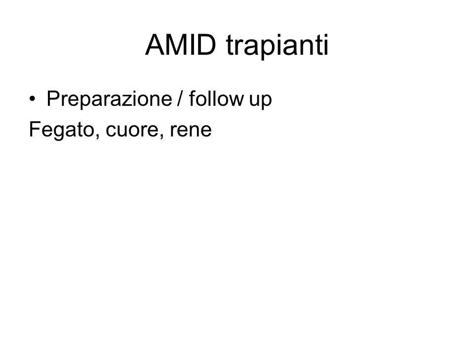 AMID trapianti Preparazione / follow up Fegato, cuore, rene