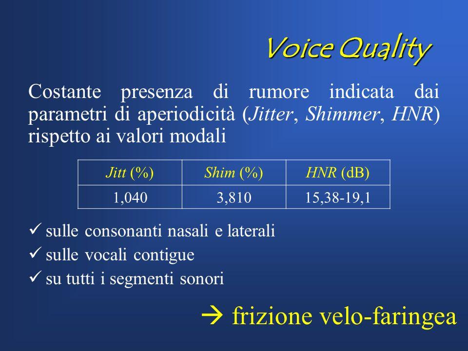 Voice Quality  frizione velo-faringea