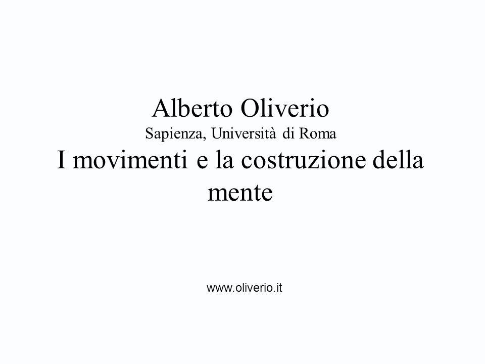 Alberto Oliverio Sapienza, Università di Roma I movimenti e la costruzione della mente