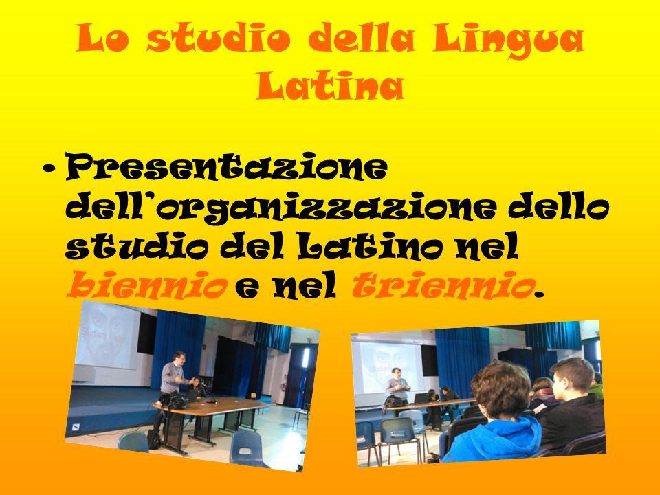 Lo studio della Lingua Latina