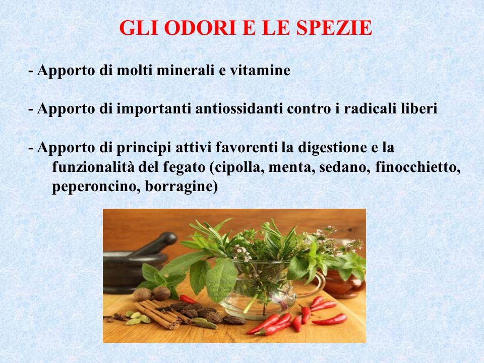 GLI ODORI E LE SPEZIE - Apporto di molti minerali e vitamine
