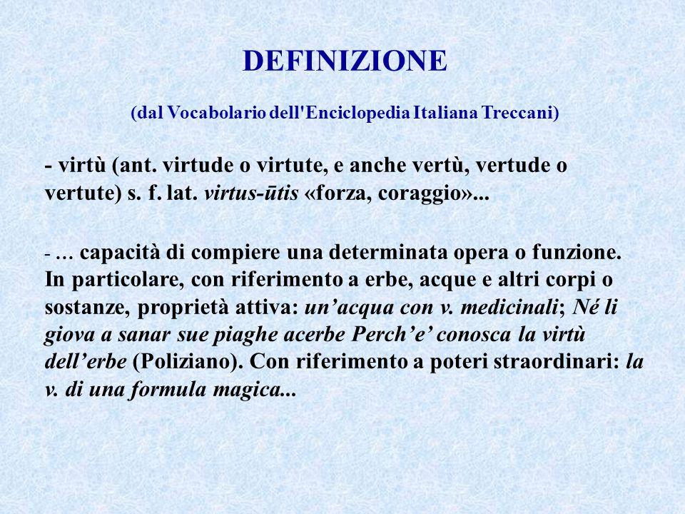 (dal Vocabolario dell Enciclopedia Italiana Treccani)