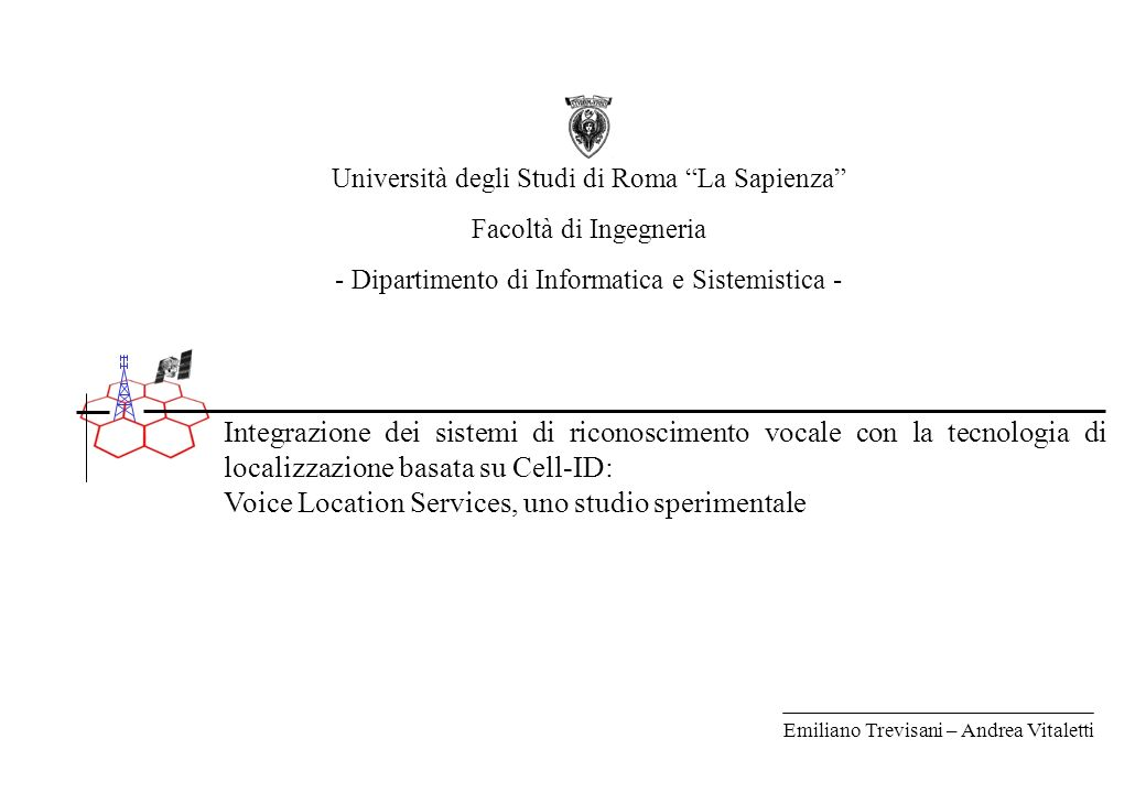 Voice Location Services, uno studio sperimentale