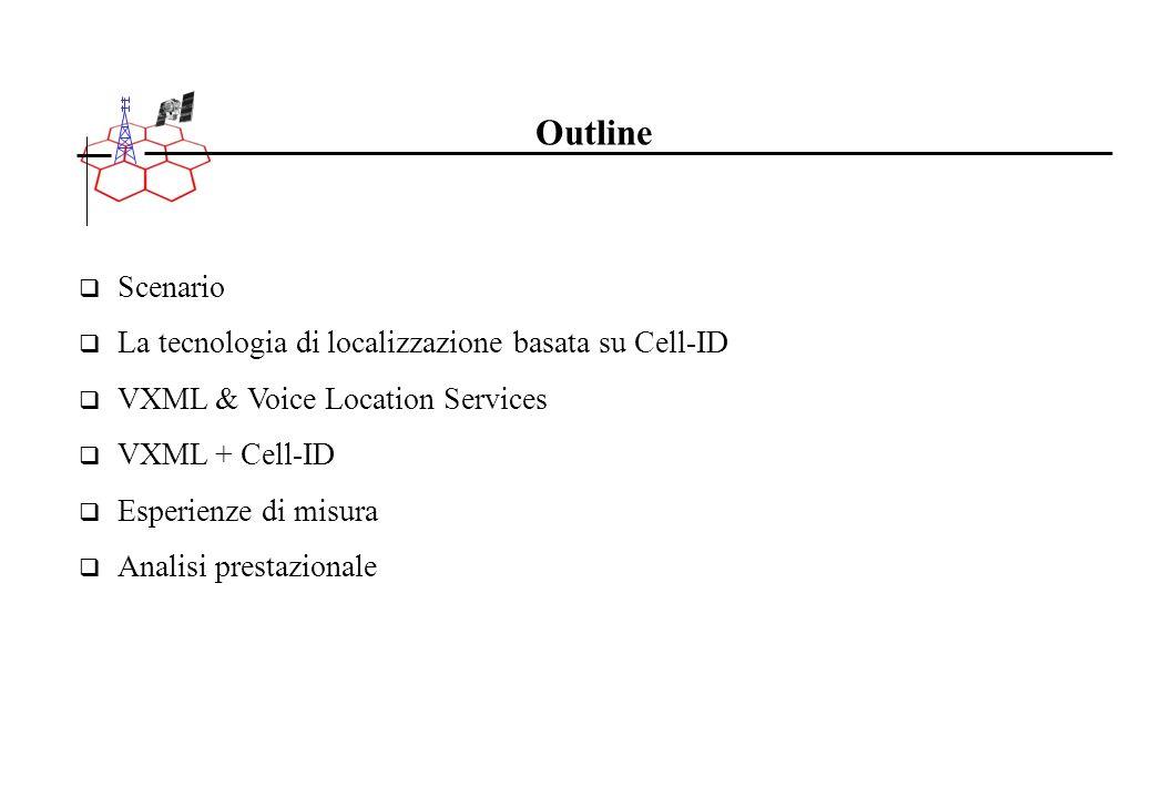Outline Scenario La tecnologia di localizzazione basata su Cell-ID