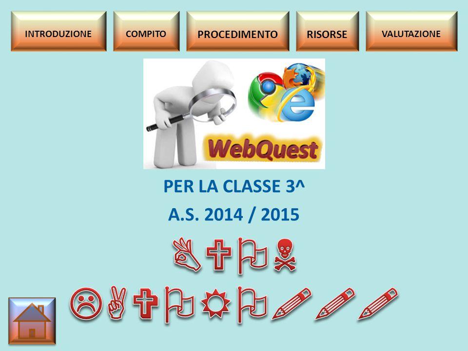 BUON LAVORO!!! PER LA CLASSE 3^ A.S. 2014 / 2015 PROCEDIMENTO RISORSE