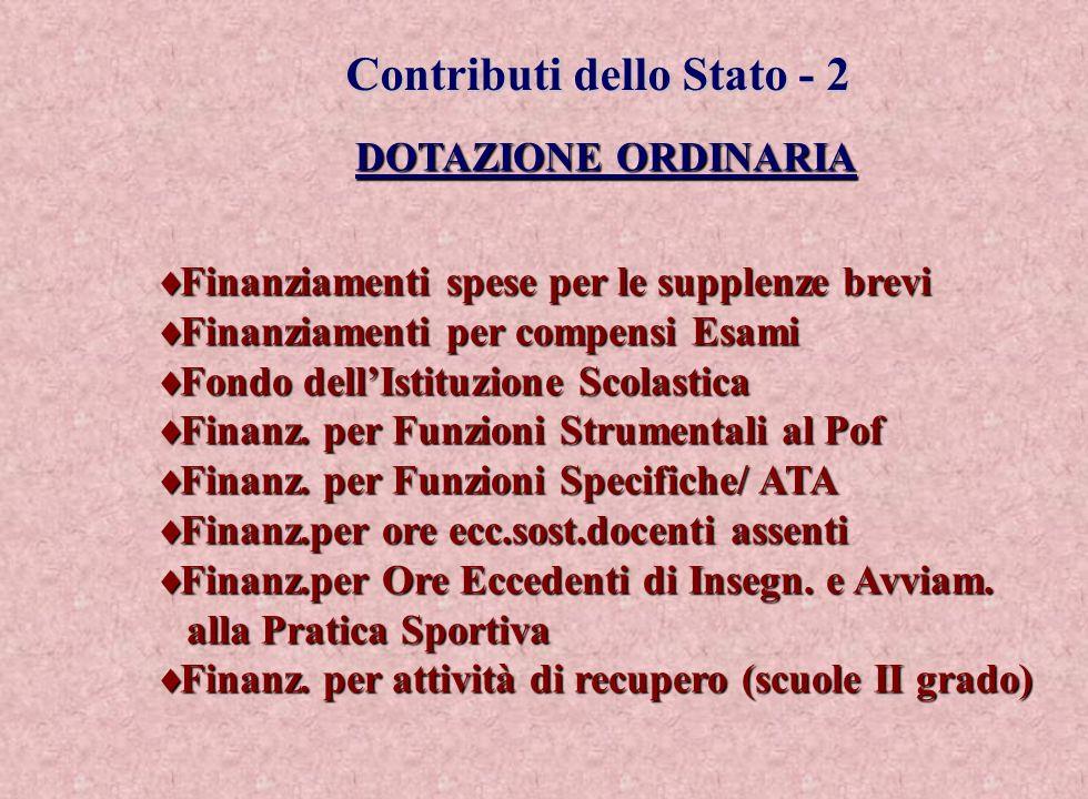 Contributi dello Stato - 2