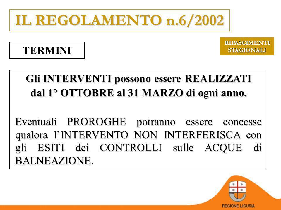 IL REGOLAMENTO n.6/2002 TERMINI