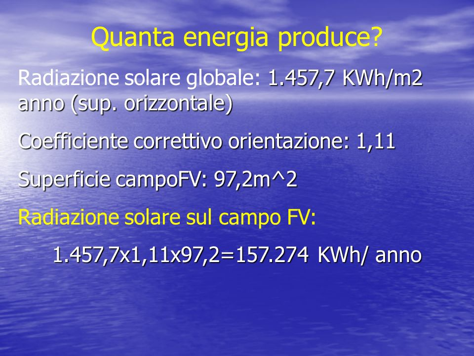 Quanta energia produce