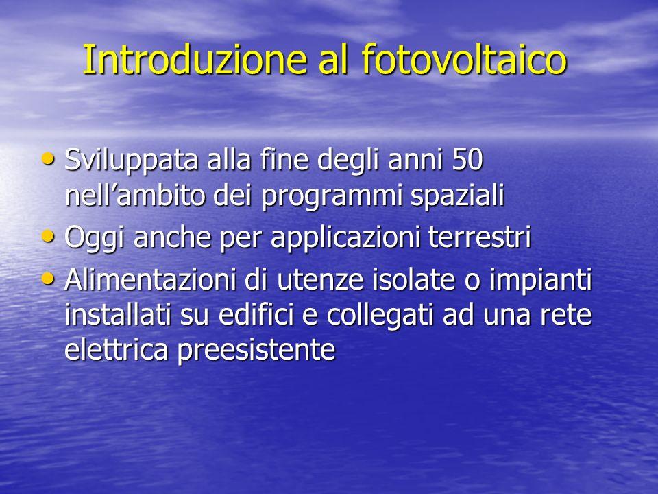 Introduzione al fotovoltaico