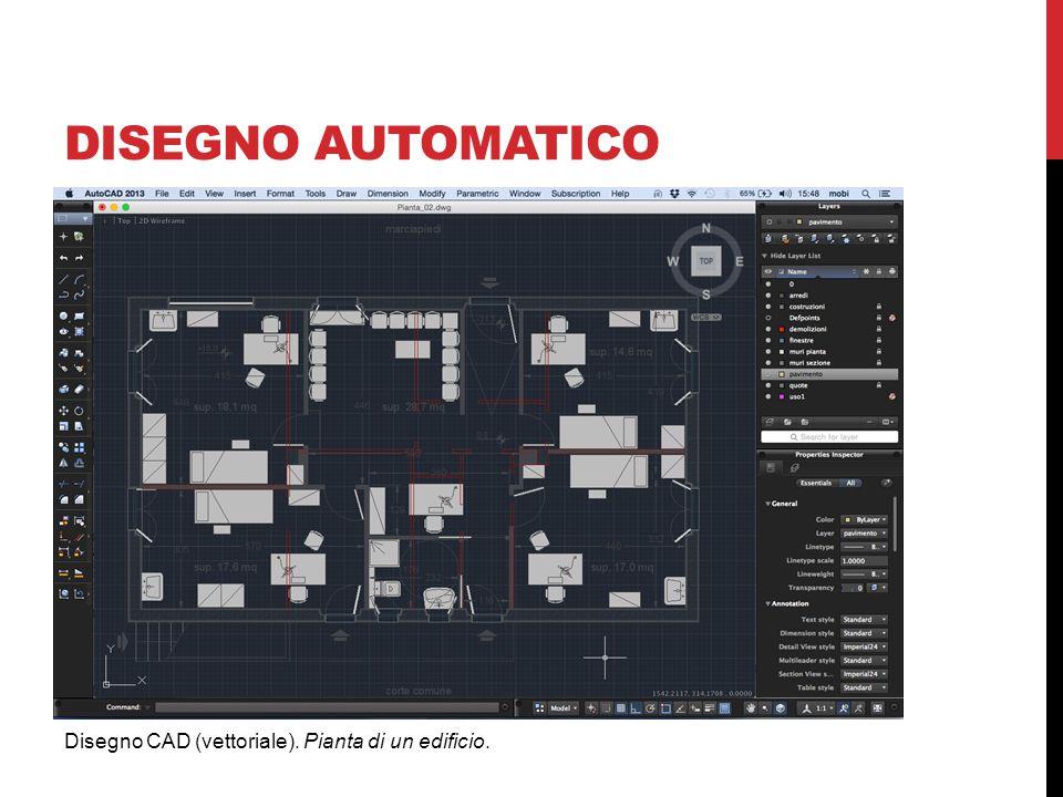 DISEGNO AUTOMATICO Disegno CAD (vettoriale). Pianta di un edificio.