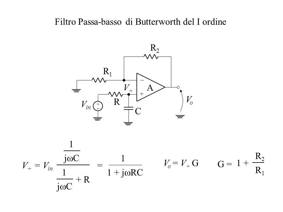 Filtro Passa-basso di Butterworth del I ordine