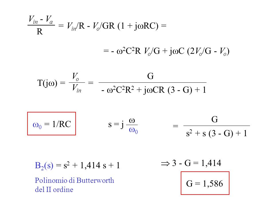 = Vin/R - Vo/GR (1 + jwRC) = R