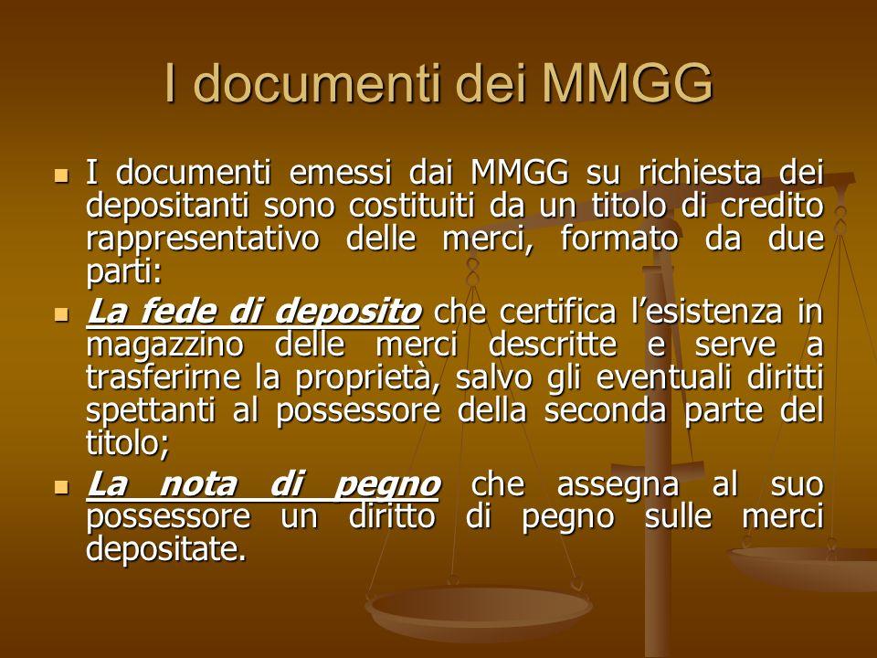 I documenti dei MMGG